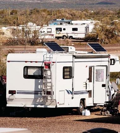 Solar RV setup, courtesy of Ameresco.
