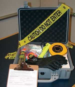Safety officers use this safety kit to investigate incidents at Manitoba Hydro facilities.