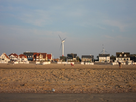 The beach town of Zeebrugge