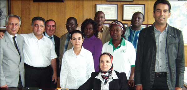 A total of 16 engineers from Nigeria, Burkina Faso and Morocco attended the two training sessions held in Turkey in 2011 and 2012. The engineers in this photograph took part in the 2011 session.