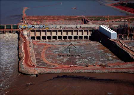 The 3,150 MW Santo Antonio project, under construction on the Madeira River in the Brazilian Amazon, is being developed with a strict focus on sustainability