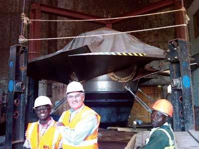Five 51 MW Kaplan turbine-generator units were installed in the powerhouse of the 250 MW Bujagali project in Uganda, the largest private sector investment ever undertaken in the region.