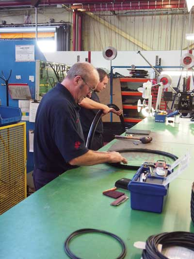 Workers hand finish seals produced at the James Walker elastomer division in the north of the UK. (Photo courtesy David Appleyard)