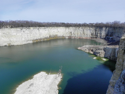 The proposed hydro development will utilize a quarry that's already in place as part of the pumped storage system. The powerhouse will be excavated below the reservoir.
