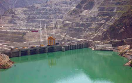 Photo (above): The reservoir for the Koteshwar project is a vital component of the larger Tehri Hydropower Complex, which will have a capacity of 2,400 MW when complete in 2017.