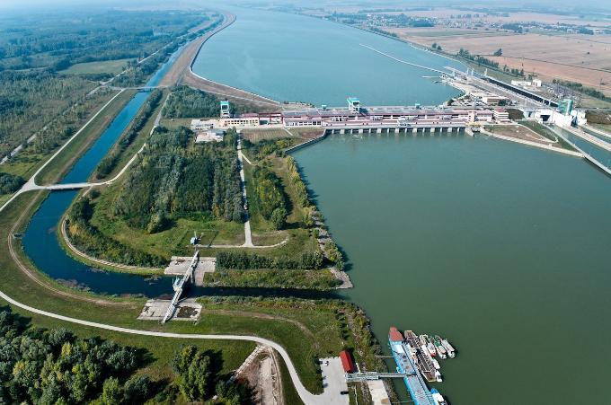 The Gabcikovo Water Works in Slovakia