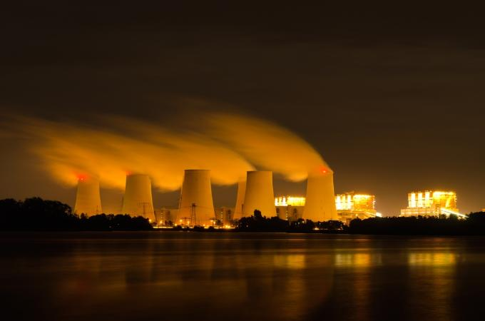 Coal-fired plant, via Shutterstock