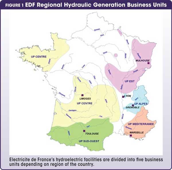 Figure 1 EDF  Regional Hydraulic Generation Business Units