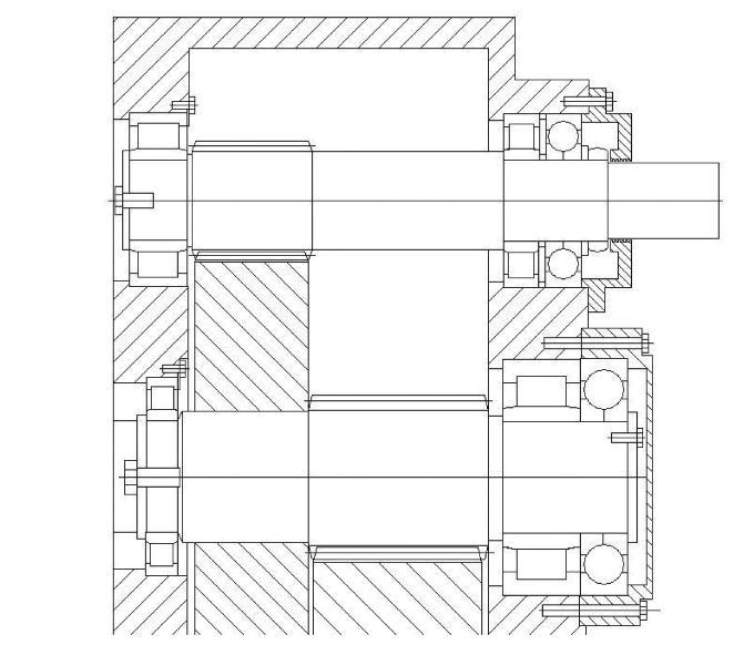 Wind turbine gearbox bearing arrangement