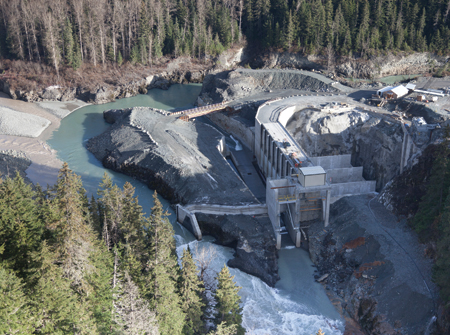 The 195-MW Forrest Kerr project, being constructed in northern British Columbia, is nearly complete.
