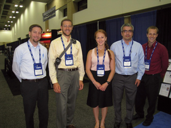 The 2012 alumni from left: Mike George, Mitch Clement, Marina Kopytkovskiy, Ilker Telci, and Andrew Dozier.