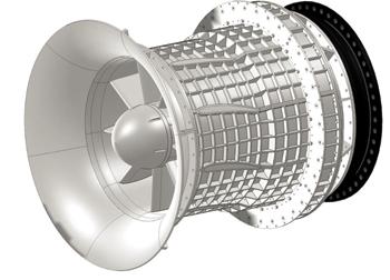 Low-head turbine/generator