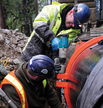 The use of mechanical couplings rather than more traditional welded joints when installing the penstock at the 5.5-MW Canoe Creek facility saved time and money and provided a safer environment for workers.