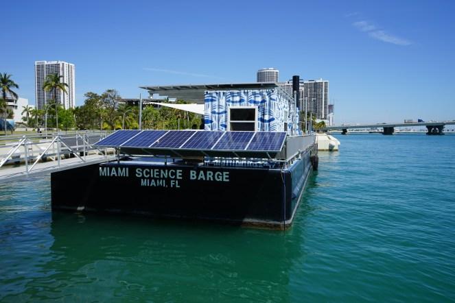Jinko solar panels on barge