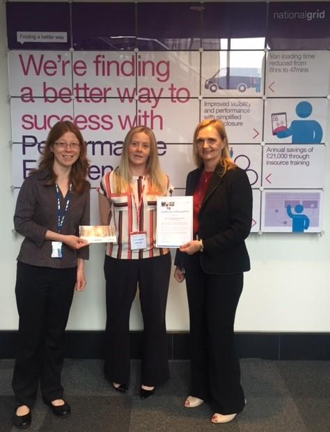 Inprova Energy Analyst wins National Grid Appreciation Award