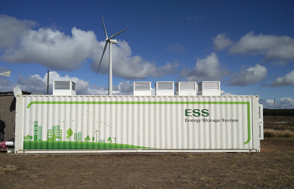 Customer site showing a front-of-the-meter energy storage application. Credit: Smarter Grid Solutions.