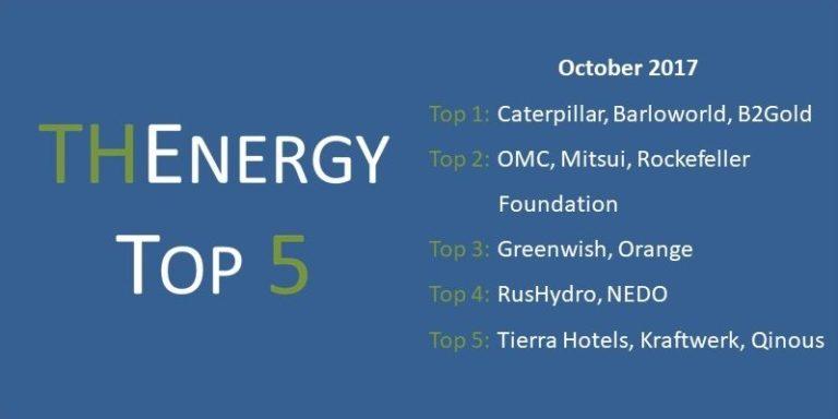 Top 5 Hybrid Energy News (Solar- and Wind-Diesel-Hybrid + Microgrids) – October 2017