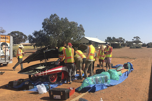 Stanford Team Takes Ambitious Car to the World Solar Challenge
