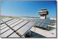Solar Power Heats Water for Canadian Airport