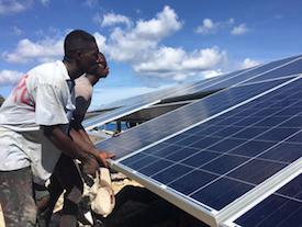 Haitian Solar PV Weathers Hurricane Irma