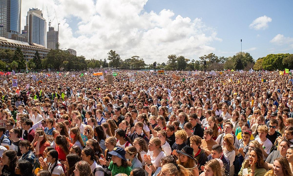 Climate protesters, Sydney Australia