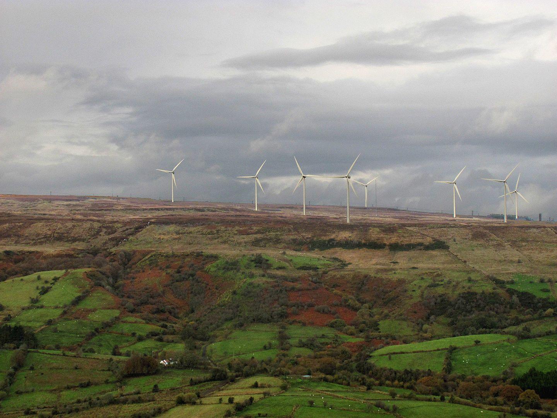 Wind turbines on Leitrim's Corrie Mountain