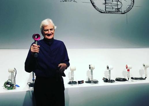 James Dyson presents a new model of Dyson hair dryer. Photo by Nobuyuki Hayashi via Creative Commons.