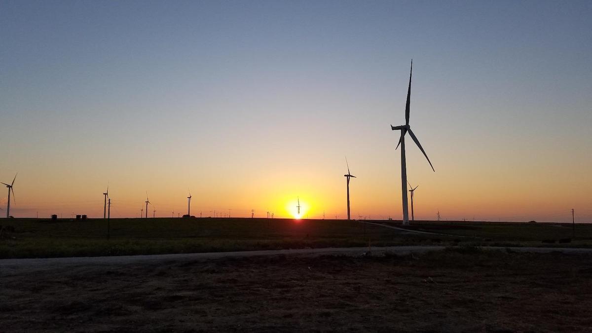 Tyler Bluff Wind Farm. (Photo: Business Wire)