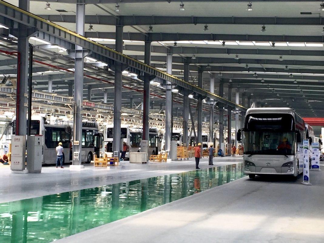 Foshan Feichi fuel cell bus manufacturing facility (PRNewsFoto/Ballard Power Systems Inc.)