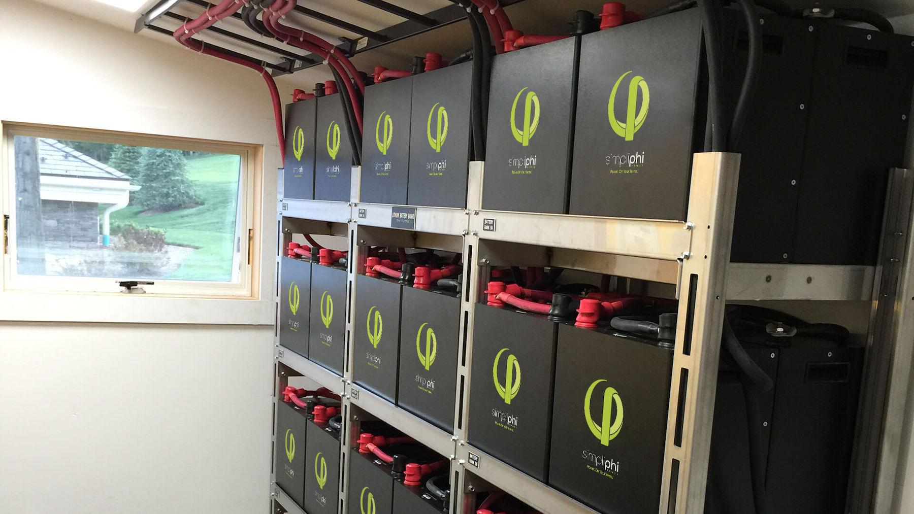 Residential battery installation, credit Simplifi Power