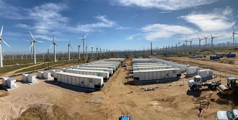 Wartsilia Storage California 70MW