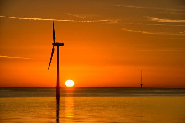 Wind Turbine Sunset