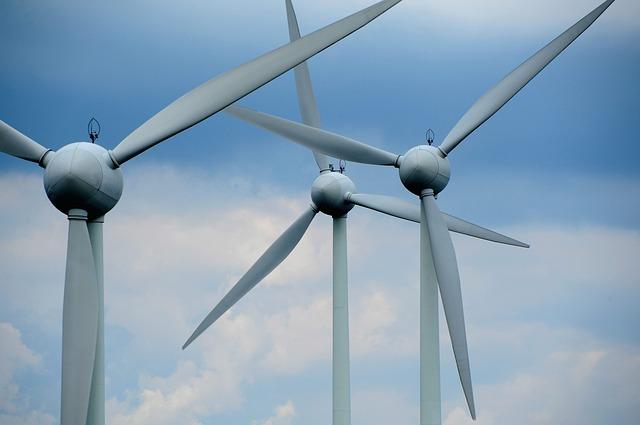 Wind Turbine in Sky