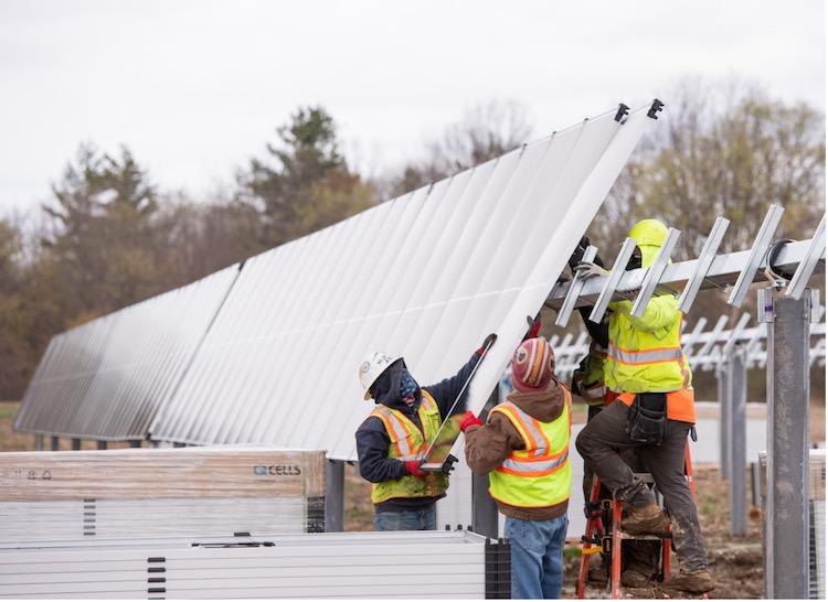 solar project under construction