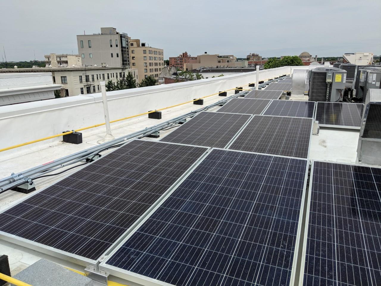 Solar array of Maycroft Apartments. Photo Credit: New Partners Community Solar