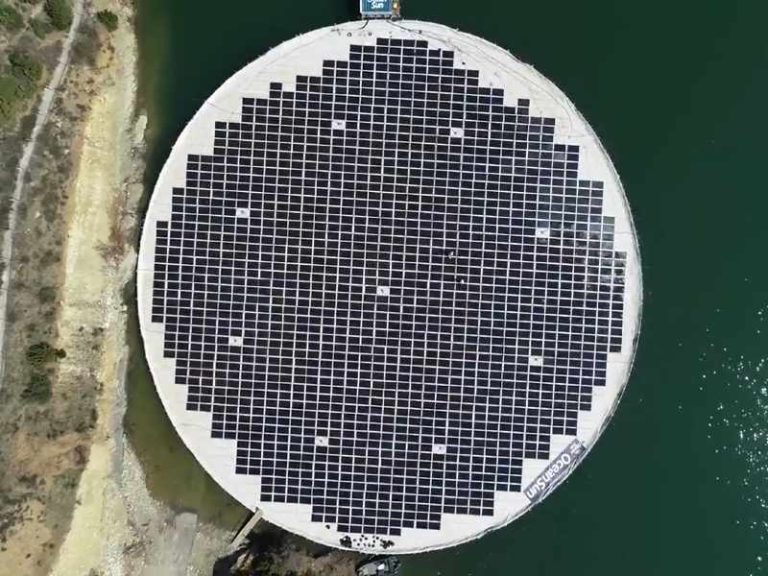 Albania's first floating solar plant starts commercial operations