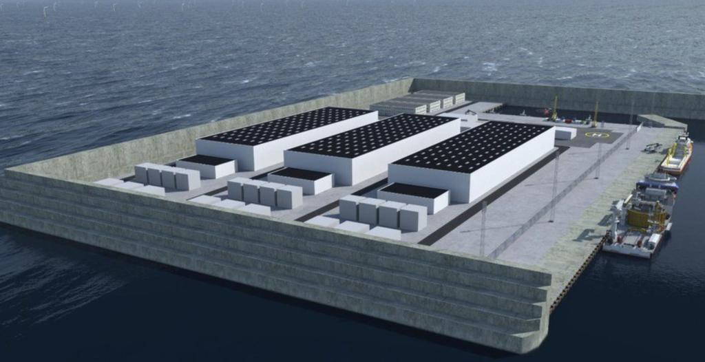 north sea energy island project